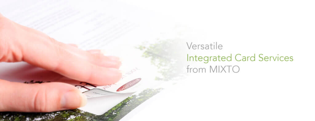 integrated cards by mixto
